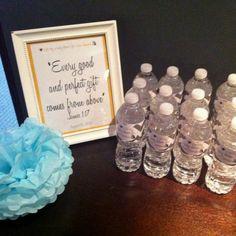 Baby shower decor- framing scripture