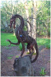 Dragon of the woods - protector of the mythical garden *****Follow our unique garden themed boards at www.pinterest.com/earthwormtec *****Follow us on www.facebook.com/earthwormtec for great organic gardening tips #dragon #nature #mythicalgarden
