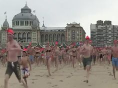 Baños Helados Como Manera De Comenzar El 2015 En El Norte De Europa #Video