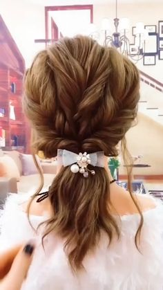 Easy Everyday Hairstyles, Easy Hairstyles For Long Hair, Girl Hairstyles, Toddler Hairstyles, Easy Elegant Hairstyles, Easy Wedding Hairstyles, Easy Updos For Medium Hair, Fast Hairstyles, Ponytail Hairstyles