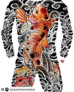 Design for client. Koi Dragon Tattoo, Koi Fish Tattoo, Japanese Tattoo Designs, Japanese Tattoos, Peonies Tattoo, Irezumi Tattoos, Hybrid Design, Chest Tattoo, Tattoo Sketches
