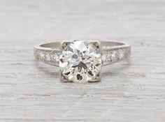 2.15 Carat Vintage Art Deco Diamond Engagement Ring