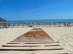 wooden walkway on Paradise Beach, Thassos Island