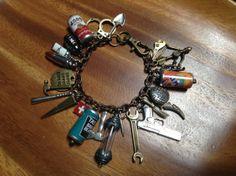 Zombie Apocalypse Charm Bracelet Item ZA203 by NormanJewelry, $35.00