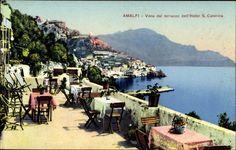 Postkarte Amalfi Campania, Vista dal terrazzo dell'Hotel S. Caterina