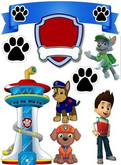 Fiesta de Paw Patrol o Patrulla Canina: Toppers para Tartas, Tortas, Pasteles, Bizsnsnsjskwkcochos o Cakes para Imprimir Gratis. Paw Patrol Birthday Cake, Paw Patrol Party, Birthday Cake Toppers, Torta Paw Patrol, Paw Patrol Cake Toppers, Happy Birthday Funny, Happy Birthday Greetings, Funny Happy, 3rd Birthday Parties
