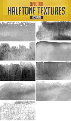 Vector Halftone Textures by DesignWorkz on Creative Market