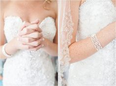 Bride with lace gown and veil. Dara's Garden wedding, Knoxville wedding venue, photos by Tennessee photographer JoPhoto.