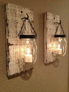Rustic/Shabby Chic Mason Jar Wall Sconces
