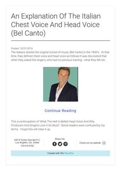 An Explanation Of The Italian Chest Voice And Head Voice (Bel Canto)
