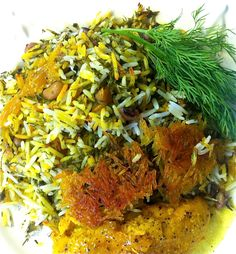 Persian style dill herbed rice {شوید پلو} with black-eyed peas {loobia cheshm bolboli}: shevid polow  - See more at: http://cookingminette.com/2014/05/my-noosis-dill-herbed-rice-with-black-eyed-peas-cheshm-bolboli-shevid-polow.html#sthash.yOr5J333.dpuf