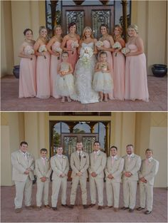 Pale pink bridesmaids dresses ~ Photo: Jenna Christine Photography