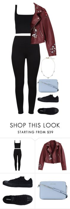 """""""Untitled #857"""" by ayalikeschicken ❤ liked on Polyvore featuring Converse and MICHAEL Michael Kors"""