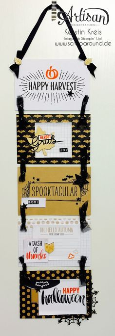 Kerstin's banner made with Stampin' Up's Project Life Seasonal Snapshot 2015 Collection.