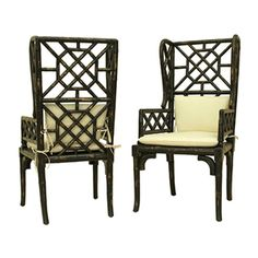 BAMBOO WING BACK CHAIR - GuildMaster