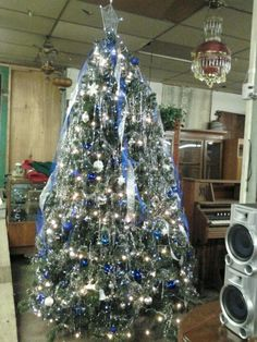 Christmas tree at auction.