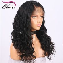 Elva Hair 180% Density Water Wave Full Lace Human Hair Wigs For Black Women Remy Hair Wigs Pre Plucked Hairline With Baby Hair(China)
