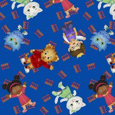 Daniel Tiger Tossed fabric by poopydoos on Spoonflower - custom fabric