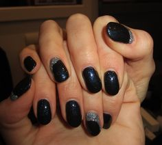 ONGLES en GEL PRONAILS et GEL GLITTER ARGENT *JULIA NAILS*