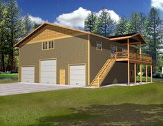 Garage Plan 87186 | Traditional    Plan with 2500 Sq. Ft., 3 Bedrooms, 2 Bathrooms, 3 Car Garage