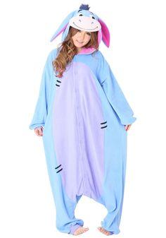 Blue Eeyore Donkey Onesies Hoodie Pajamas Pyjama   PajamasBuy