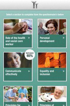 This is a training app I'm designing for social care workers in the UK. It involves a questionnaire to test the users social care abilities.