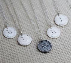 Set of 5 Vintage Style Bridesmaid Initial Necklaces, Personalized Bridesmaid Necklaces, Bridesmaid Gift Necklace
