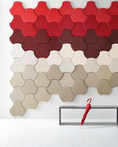 Introducing Xorel Artform! Xorel Artform panels provide acoustical solutions and design diversity for wall space design. Available in 4 individual shapes in over 200 Xorel colors and textures this is our Scale shape. #designwithxorel #xorel #endlesspossibilities by carnegiefabrics