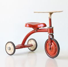 Vintage Red Tricycle Junior Toy Corp. by bellalulu on Etsy