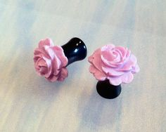 2G Blooming Violet Rose Flower Plugs  by PerfectionPetals, $18.00