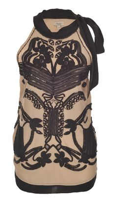 Hoss Intropia Beige Top with Black Detail NOW JUST £40.00