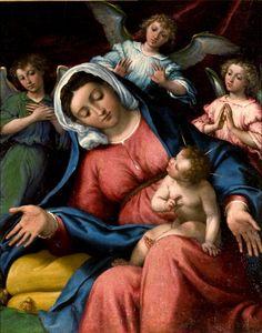 Lorenzo Lotto - Madonna con bambino e angeli - Museo Ermitage, San Pietroburgo