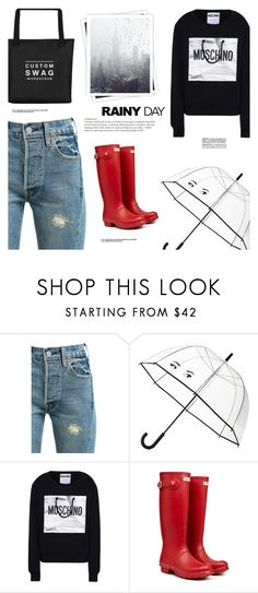 """""""Días Nublados"""" by makeupgoddess ❤ liked on Polyvore featuring Levi's, Kate Spade, Moschino, GALA and Hunter"""