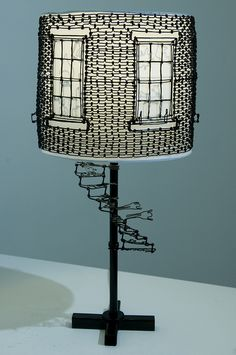 Chapter XX wire art scultpure lamp shade CW Roelle