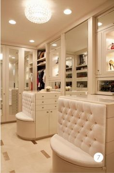 """Lisa says, """"love the 'drama' of this walk in closet- I love glitzy, girly things."""""""