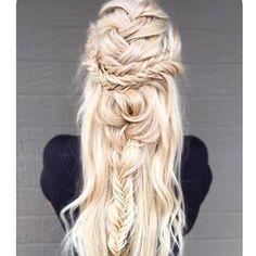 ✨✨Braid of the Day✨✨ #hair #braid #headpiece #gypsy #hippy #mermaid #bride…