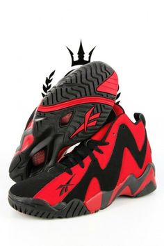 7f85c4a3cebc Reebok Kamikaze ii 2 Red   Black Limited Edition x  SNEAKERS Heeled Boots