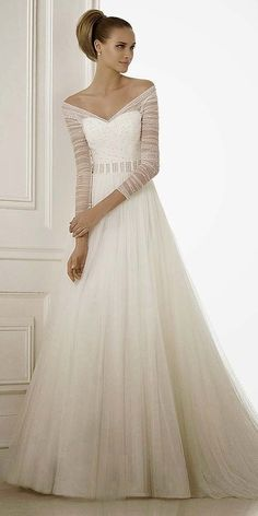 Chic Long Sleeve Wedding Dresses ❤ See more: http://www.weddingforward.com/long-sleeve-wedding-dresses/ #weddings