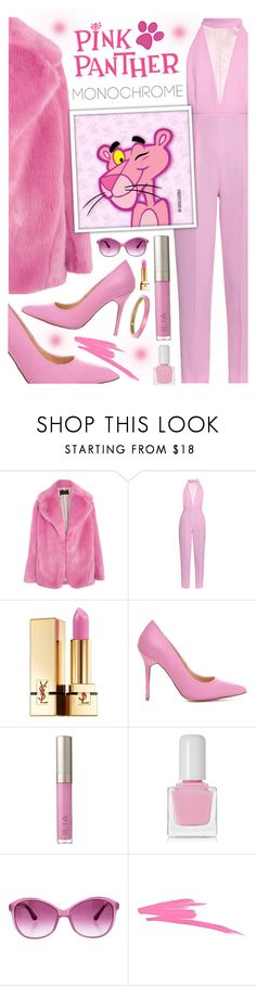 """""""Monochrome: The Pink Panther"""" by jleigh329 ❤ liked on Polyvore featuring J.Crew, Emilia Wickstead, Yves Saint Laurent, Ilia, tenoverten, M Missoni, NARS Cosmetics and Alexis Bittar"""