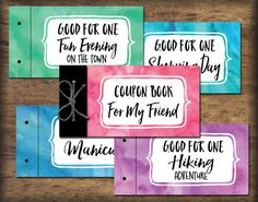 Friend BFF Coupon Book printable. Instant download by PrintsofLife