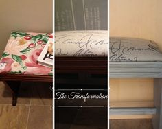 Take a look at photos I took in this French Bench Makeover Reveal Post! French Bench, Using Chalk Paint, Annie, Painted Furniture, Projects, Painting, Home Decor, Homemade Home Decor, Paintings