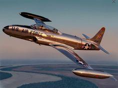 A shiny Lockheed T-33 Tbird.