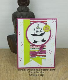 Carola Creations: Stampin'Up! Party Pandas  Hallo allemaal, Allereer...