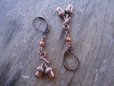cyprium acorn earrings by ljctree on Etsy, $8.00