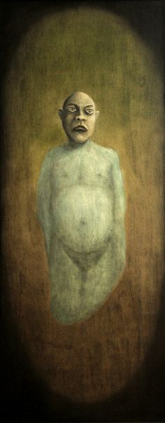 Szabó Gyula, The Portrait of the Orphan Soul - 40x16x2 inch (101x41x5 cm) - oil on canvas - 2014 on ArtStack #szabo-gyula #art