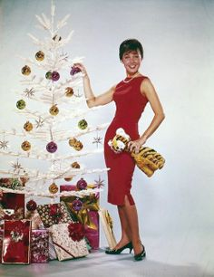 Eydie Gorme - holiday photo shoot for an LP cover.