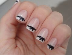Bow vinile Nail Decals Set di adesivi di MakeitStickDesigns