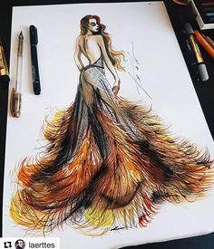 with ・・・ 🔥🔥🔥 🔥🔥🔥 As temperaturas estão subindo! Dress Design Sketches, Fashion Design Sketchbook, Fashion Design Drawings, Fashion Sketches, Fashion Drawing Dresses, Fashion Illustration Dresses, Moda 3d, Arte Fashion, Illustration Mode