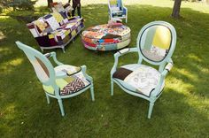 Designer Modern Furniture Michigan   Patchwork Upholstery