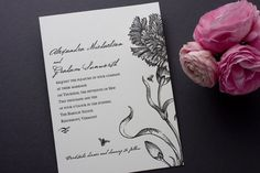 Botanical English Garden wedding Invitations